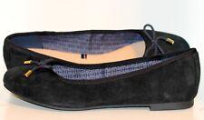Señoras Elegantes Zapatos Von Tommy Hilfiger Piel de ante Negro Talla 38 Nuevo