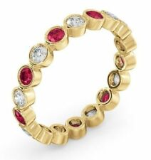 Classy 1.44 Cts Natural Diamonds Ruby Cocktail Ring In Solid Certified 14K Gold