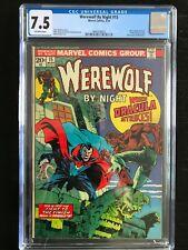 Werewolf by Night 15 CGC 7.5! Werewolf vs Dracula!! Moon Knight!! Disney +!!  Bl