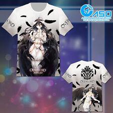 Anime otaku T shirt Overlord Albedo Unisex Summer Short Casual Tee Tops Gift