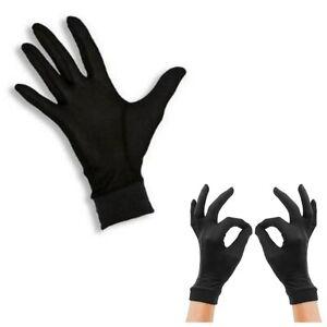 Thin Pure Silk Black Liner Inner Gloves Thermals Ski BikeMotorcycle Soft Sport