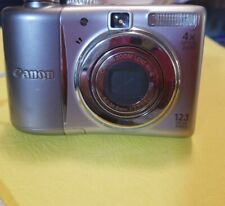 Canon PowerShot A1100 IS 12.1MP Digital Camera - Silver w/  USB Cable pre-owned