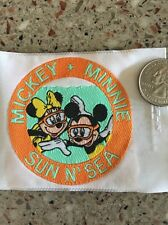 Mickey + Minnie Mouse Embroidered Iron On Sew On Patch Appliqué Sun N' Sea