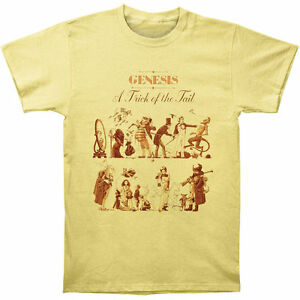 Genesis - A Trick Of The Tail 2 - Official Men's Yellow T-Shirt US IMPORT