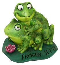 Funny Frog Statue Resin Garden Outdoor Yard Lawn Patio Home Gift Decor Faster