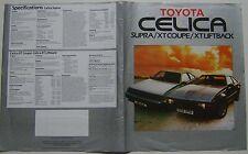 Toyota Celica Supra Xt Coupe & liftback 1984-85 original del Reino Unido folleto de ventas