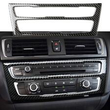 Kohlefaser Auto A/C CD Armaturenbrett Aufkleber für BMW F20 F21 118i 120i 135i