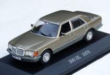 Mercedes Classe S 500 SE-modèle w126 Bj. 1979-1985, M. 1:43, goldmetallic