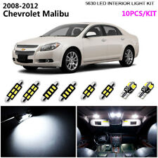 10Bulbs LED Super White 6000K Interior Dome Light Kit Fit 2008-2012 Chev Malibu