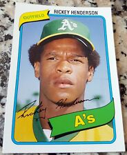 RICKEY HENDERSON 2006 Topps Rookie Card RC Lot of 5 1980 Reprint Oakland A's HOF