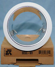 """*NEW* JUNO 6"""" Angle Cut Cone, Specular Clear white trim for recessed HID housing"""
