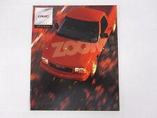 1998 GMC Sonoma Pickup SL SLS SLE Sales Brochure Catalog Dealer Literature