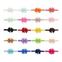 20pcs Newborn Toddler Headband Ribbon Elastic Baby Hair Band Bowknot Turban