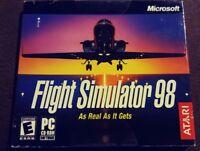 Flight Simulator 98 Microsoft Windows PC 95/98 2003 Atari Aviation RARE Disc NIP