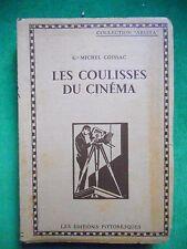 LES COULISSES DU CINEMA GEORGES MICHEL COISSAC 1929 TECHNIQUE