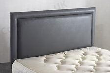 4ft6 Double Bumper Frenzy Faux Leather Headboard Grey