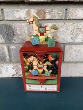 VTG Windsor Collection Stocking Holder Hobby Horse In Original Box Christmas