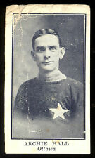 1912 C61 IMPERIAL TOBACCO LACROSSE #37 ARCHIE HALL LG-VG OTTAWA CAPITALS TEAM