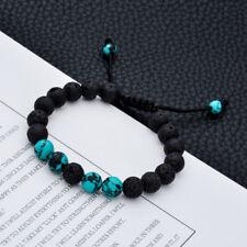 Lava Stone Buddha Bead Bracelet Ethnic Adjustable Natural Volcanic Bead Jewelry