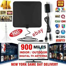 900 Miles Outdoor Flat HD Amplified TV Antenna with Amplified HDTV 1080P 4K 13ft