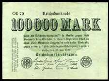 ALLEMAGNE  100000  mark 25 / 7 / 1923  ( uniface  )