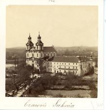 Pologne, Cracovie, Suknia Vintage albumen print  Tirage albuminé  9x9  Cir
