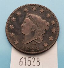 West Point Co 00003655 ins ~ 1822 Coronet Head Large Cent Vf+