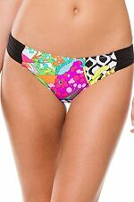 NEW Trina Turk Balboa Tab Side Shirred Swimwear Bikini Bottom Size 10 TT6AC90