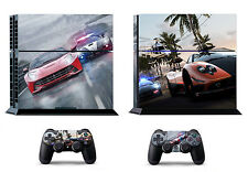Need for speed Car 399 Skin Sticker Sony PS4 PlayStation 4 and 2 controller skin