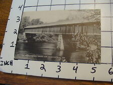 Vintage Early Postcard: old Covered Bridge at NEWBURY VT. unused Connecticut riv