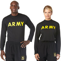 NWT AR 670-1 Army Physical Training PT APFU STANDARD LONG SLEEVE SHIRT ALL SIZES