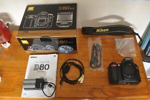 Nikon D80 DSLR Camera 10.2MP Body Only, Good Condition