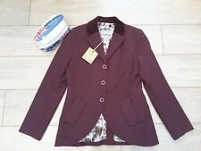 Tom Joules Harcombe cherry mulled red tweed wool hacking jacket blazer UK 12