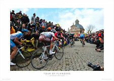 TOUR OF FLANDERS Climbing the Muir Graham Watson CYCLING CLASSIC POSTER Print
