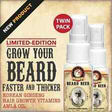 BEARD GROWTH SERUM SPRAY Grow Thick Facial Hair Sideburns Moustaches 2 x 20mL