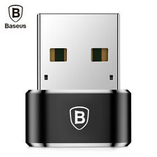 Baseus Mini Male USB to Female Type-C Converter Charging Data Adapter Black