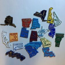 VTG LOT OF 19 VACATION RUBBER STATE SOUVENIR  MAGNETS