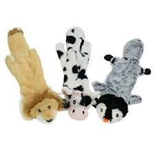 Dog Squeaky Toys 3 Pack Pet Toys No Stuffing Cow Penguin Lion Plush Chew