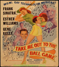 New listing TAKE ME OUT TO THE BALL GAME MOVIE POSTER 1949 FRANK SINATRA GENE KELLY BASEBALL