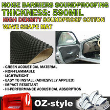 280cm x 100cm Car Sound Proof Insulation Noise Deadening Acoustic Foam Wave Mat