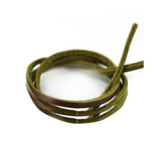 1 Pair Rawhide Leather Shoelaces Shoestrings For Boot Shoes Laces Green 110cm