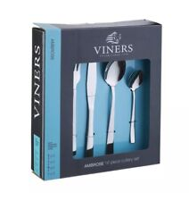 Viners Ambrose 16 Piece Stainless Steel Table Kitchen Dining Cutlery Set