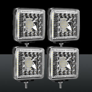 4pcs 4inch LED Work Light Bar Cube Pods Spot Flood Driving Offroad 4WD SUV
