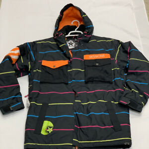 Sessions Supreme RECCO Insulated Breathable Waterproof SKI Snow Jacket SZ M