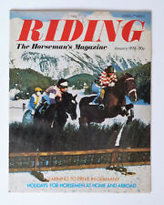 Vintage RIDING Magazine Jan 1976, The Horseman's Magazine.