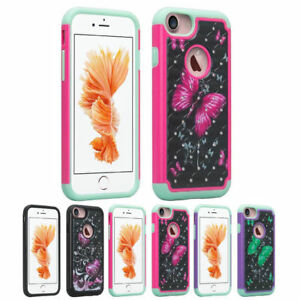 For Apple iPhone 8 / 7 Shockproof Hybrid Hard Diamond Bling Case Phone Cover