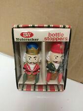 Boston Warehouse Nutcracker bottle stoppers Christmas