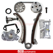 For 00-08 Toyota 1.8L Timing Chain Kit w/ VVT-i Gear w/ Oil Pump 1ZZFE Engine