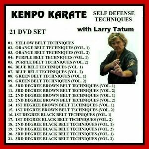 LARRY TATUM 21 DVD Self Defense Techniques yellow to black belt  Kenpo karate