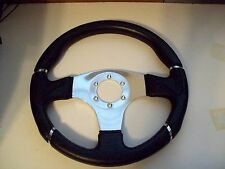 Grant Steering Wheel 3 Spoke Black 13 3/4 Chevy Ford Mopars Black